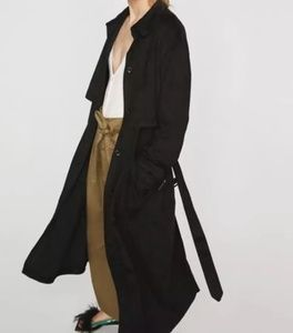 NWT zara black trench S/M